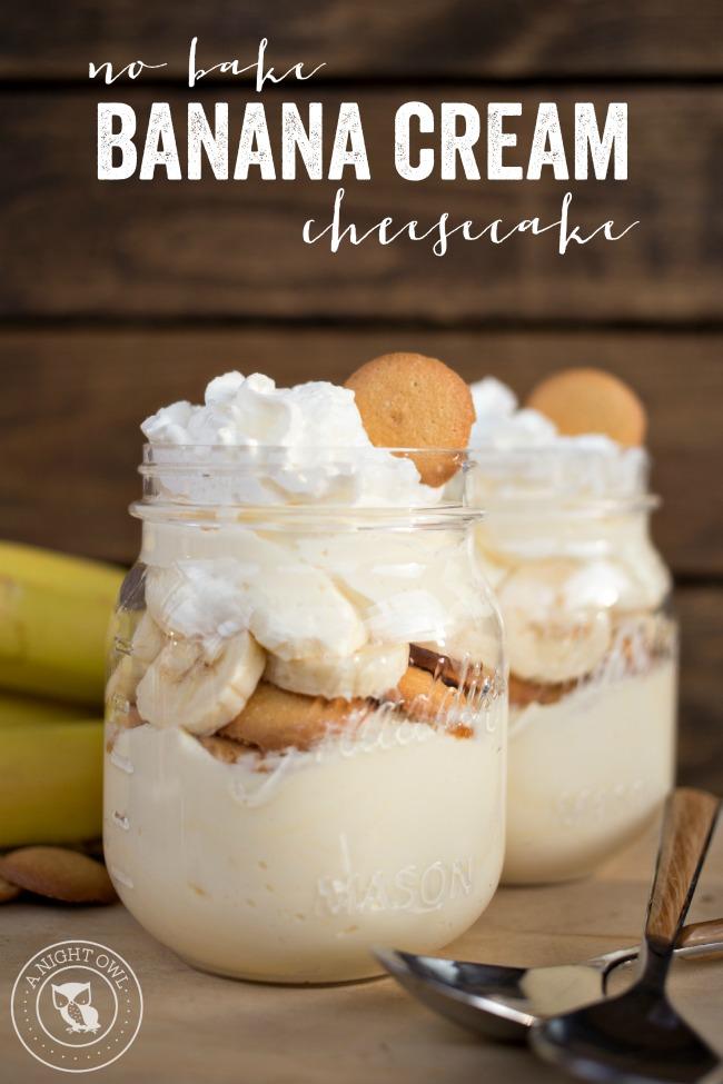 No Bake Banana Cream Cheesecake | A Night Owl Blog | OneMomsTips