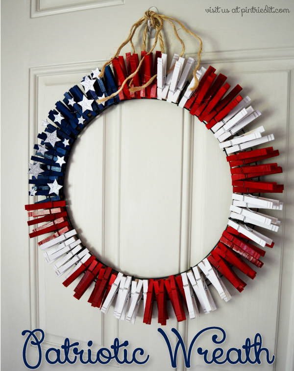 Patriotic Wreath Tutorial - PinTriedIt